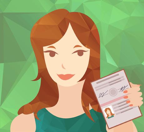 пример фотографии с паспортом в руках