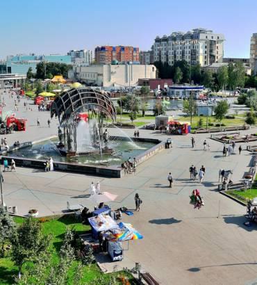 главная площадь в Тюмени