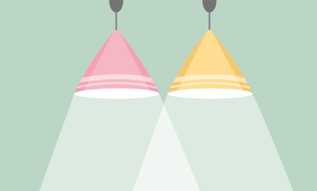 подходящее освещение