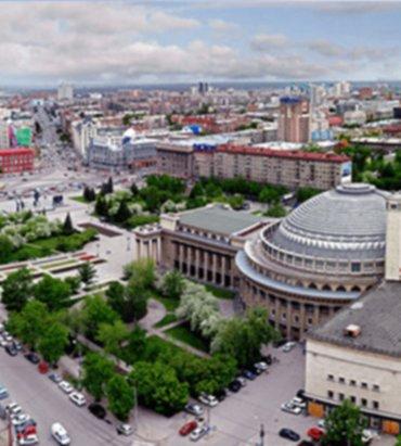 оживлённый Новосибирск