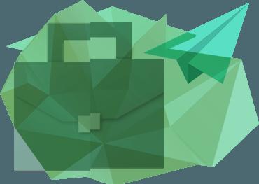 портфель и бумажный самолётик