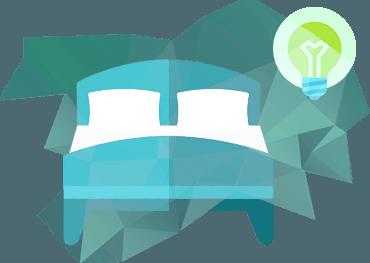 кровать в векторном стиле