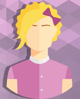 Силуэт девушки блондинки