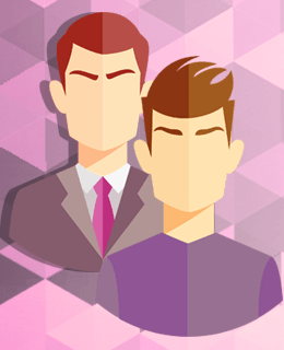 Силуэты двух мужчин