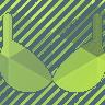 зелёный бюстгалтер